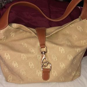Dooney & Bourke Canvas Leather Hobo Tote